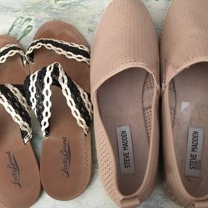 2 shoes Steve Madden and Lucky